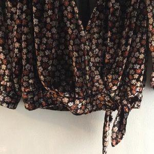 Madewell Tops - Madewell Velvet Floral Wrap Top